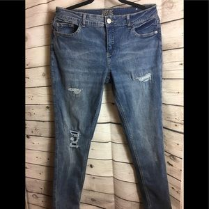 Justice Girls Plus Distressed Jeans